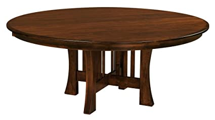 Incredible Amazon Com Amish Arts And Crafts 60 Pedestal Dining Table Complete Home Design Collection Epsylindsey Bellcom