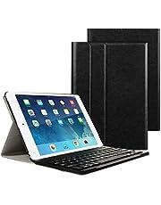 iPad 9.7 2017/2018 Funda de teclado, Besmall teclado inalámbrico Bluetooth con cuero de la PU cubierta Para Nuevo Apple iPad 9.7 Lanzado en 2017/2018, iPad Air 1/2, iPad Pro 9.7- Púrpura