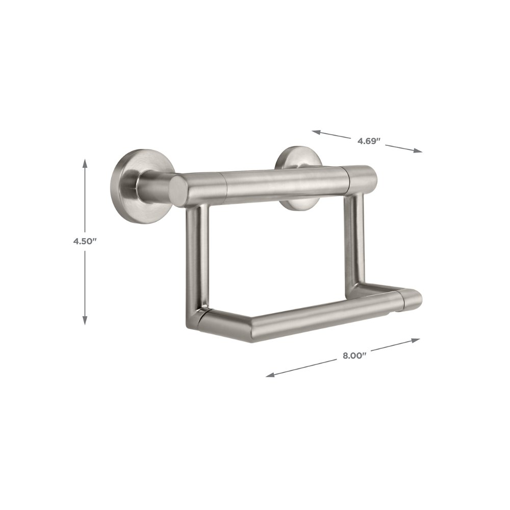 Delta Faucet 41550-SS Contemporary Tissue Holder/Assist Bar, Stainless by DELTA FAUCET (Image #5)