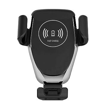 AOTUO - Mini localizador GPS para Coche con Cargador inalámbrico USB de Carga rápida Qi