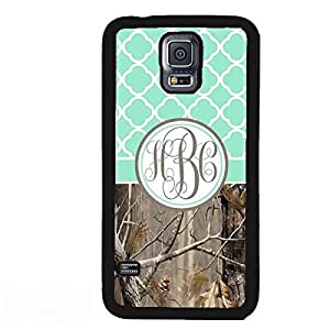 Country Girl Mint Quatrefoil Camo Monogram Case Cover For Samsung Galaxy S5