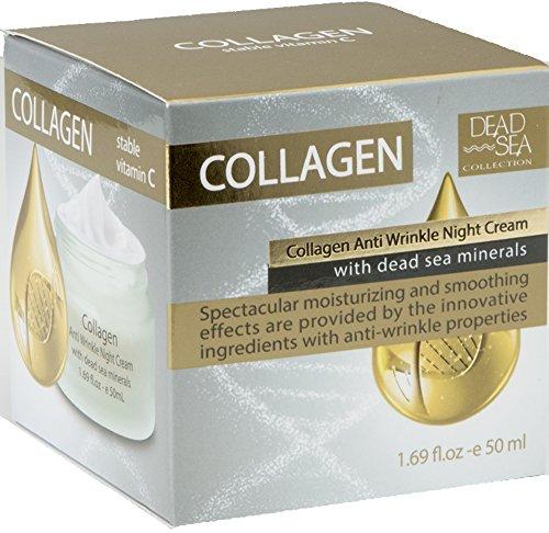 Dead Sea Collection Collagen with Dead Sea Minerals Anti Wrinkle Night Cream 1.69 fl ()