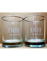 Lovely Knob Creek Silver Rimmed Rocks Glasses | Set Of 2 Glasses