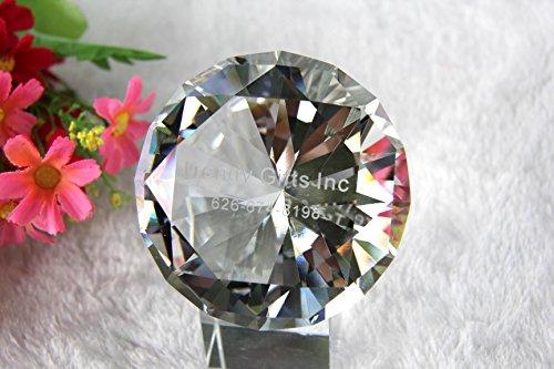 (jkk sale Sparkling Crystal Diamond Shaped Paperweight (5inch))
