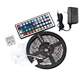 EconoLed(TM) 5M/16.4 Ft SMD 3528 RGB 300 LED Color Changing Kit with Flexible Strip Light+44 Key IR Remote Control+ Power Supply