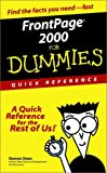 FrontPage 2000 for Dummies Quick Reference, Damon A. Dean, 0764504991