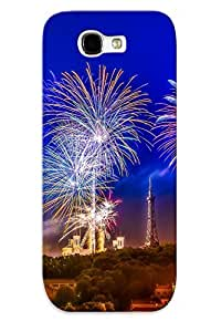 Awesome Design Fireworks Tower Buildings Hard Case Cover For Galaxy Note 2(gift For Lovers)