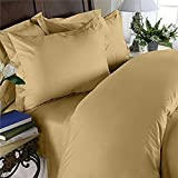 Egyptian Bedding Luxurious HARD-TO-FIND Organic 100% Viscose from BAMBOO 800 Thread Count 4-Piece BED SHEET Set, Full Size, GOLD Solid Color, Deep Pocket