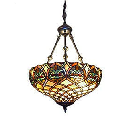 Tiffany Style Mission Hanging Pendant Light Ceiling Pendant
