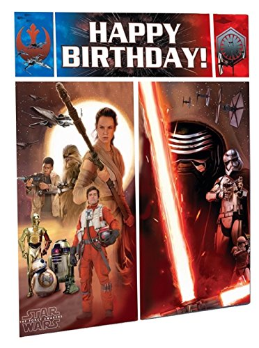 Star Wars Episode VII Scene Setter Wall Decorating Kit, Birthday