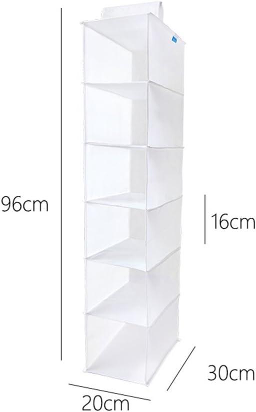YINGGG H/ängeregal Kleiderschrank 6 F/ächer Veranstalter Stauraum f/ür Pullover Kleidung,Faltbar,Grau,20 cm
