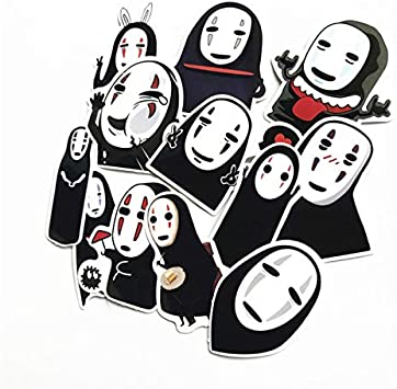 Inveroo 12pcs / Set Japonés Anime Cartoon Faceless Man Pegatinas ...