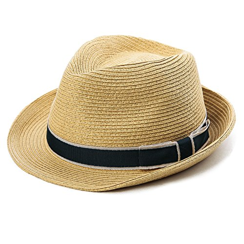 Summer Fedora Panama Beach Hats Men Women Straw Sun Hats Short Brim Casual Foldable 56-58CM Beige