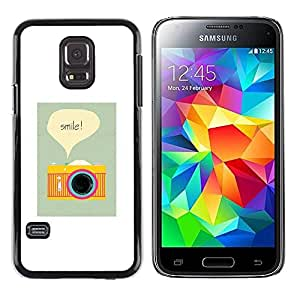 Paccase / SLIM PC / Aliminium Casa Carcasa Funda Case Cover para - Camera Smile Photographer Poster Vignette - Samsung Galaxy S5 Mini, SM-G800, NOT S5 REGULAR!