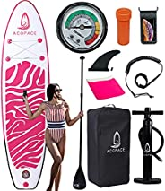 Inflatable Paddle Boards, 10'x31 x6 Stand up Paddleboard, Durable SUP Accessories, Manual Pump, 3-Piece Al