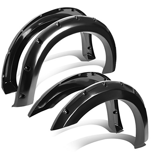 Pocket-Riveted Style Side Fender Wheel Flares For Ford F250/F350 4pc Set (Duty Pickup Fenders)