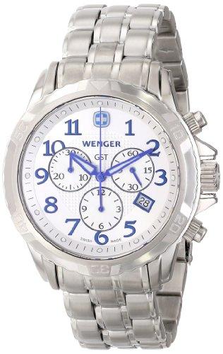 (Wenger Men's 78259 GST Chrono Silver Dial Steel Bracelet Watch)