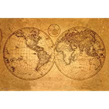 Old World Map Poster 36 x 24in