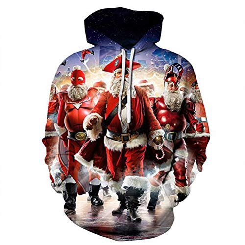 Hat Santa Panthers (Y&MY Christmas Fashion 3D Pullovers Santa Hats Print Sweatshirts Tracksuits Thin)