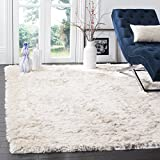 Safavieh Paris Shag Collection SG511-1212 Ivory Polyester Area Rug (3' x...