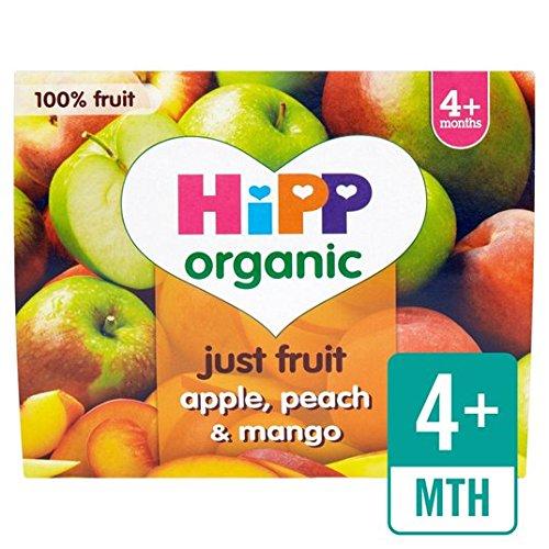 HiPP Organic Purely Fruits Apple, Peach & Mango 4 x 100g