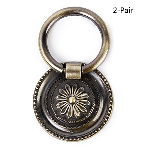 NUOLUX Pull Handle for Kitchen Cabinet Cupboard Drawer Door Knob-2 Pair(Antique (Antique Brass Door Pulls)