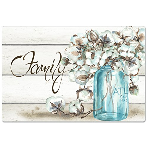 CounterArt Anti-Fatigue Comfort Floor Mat, 30 x 20 Inches, Family-Cotton Floral in Jar by CounterArt