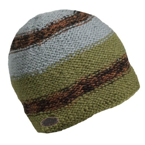 Turtle Fur Men's Nepal Jackson, Artisan Hand Knit Wool Beanie, Oregano