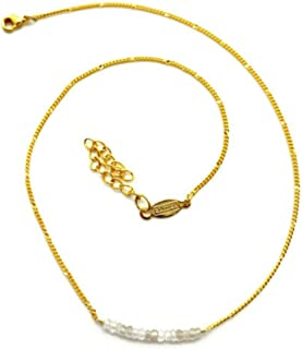 product image for a. v. max NYC Crystal Semi Rondelle Goldtone Chain Necklace 16-18