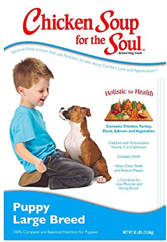 Chicken Soup for the Soul Large Breed Puppy Food- Chicken, Turkey Brown Rice Recipe, Dry Dog Food