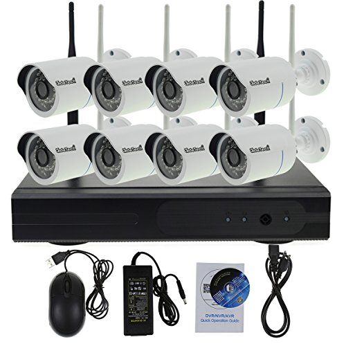Surveillance Camera System Wireless, JideTech 2TB HDD Recording/Wi-Fi Router/ Infrared Range is 100~150feet & Email Alarm and Motion Detect CCTV System Wireless Home Security Review
