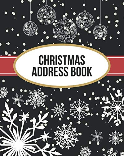 Christmas Address Book: Address Book For Christmas Cards (Send & Receive)(V2)