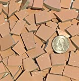 50+ Mosaic Tile Art Supply for Mosaics & Crafts ~ Pale Orange Pink Tiles (T#577)
