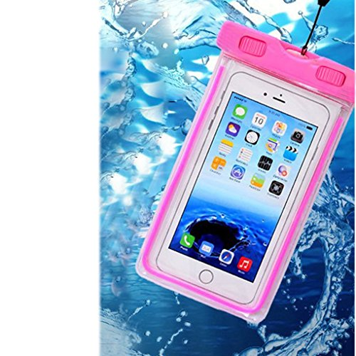 Universal Waterproof Case, CaseHQ 1Pack Clear Transparent Cellphone Waterproof, Dustproof Dry Bag With Neck Strap for iPhone 8,8plus,7,7 Plus,6S,6S Plus,google pixel,and All Devices Up to 5.8 Inches
