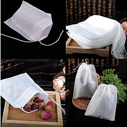 Amazon.com : 100Pcs/Lot Teabags 5.5 x 7CM Empty Scented Tea ...