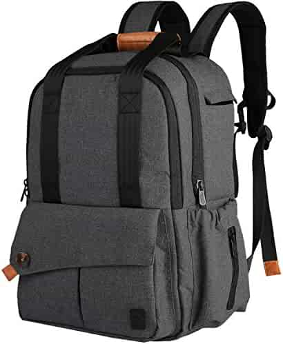 Ferlin Diaper Bag Backpack with Changing Pad /Great Gift (Darkgray-0723)
