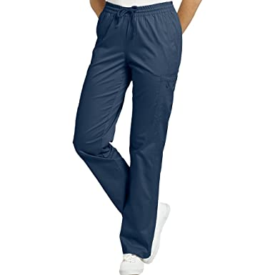 5846a665c8e Allure by White Cross Women's Elastic Waist Cargo Scrub Pant Xx-Small Petite  Navy