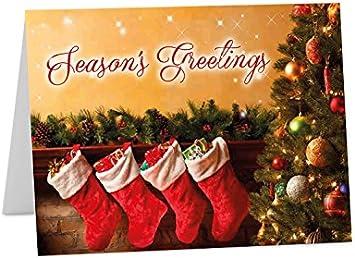 Navidad año nuevo 2018 estaciones tarjetas de felicitación Tamaño A6 o A5, Pack of 6 (A5 folded): Amazon.es: Oficina y papelería