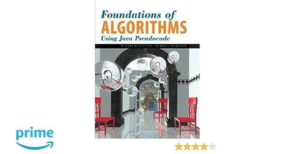Foundations of algorithms using java pseudocode richard foundations of algorithms using java pseudocode richard neapolitan kumarss naimipour 9780763721299 amazon books fandeluxe Choice Image