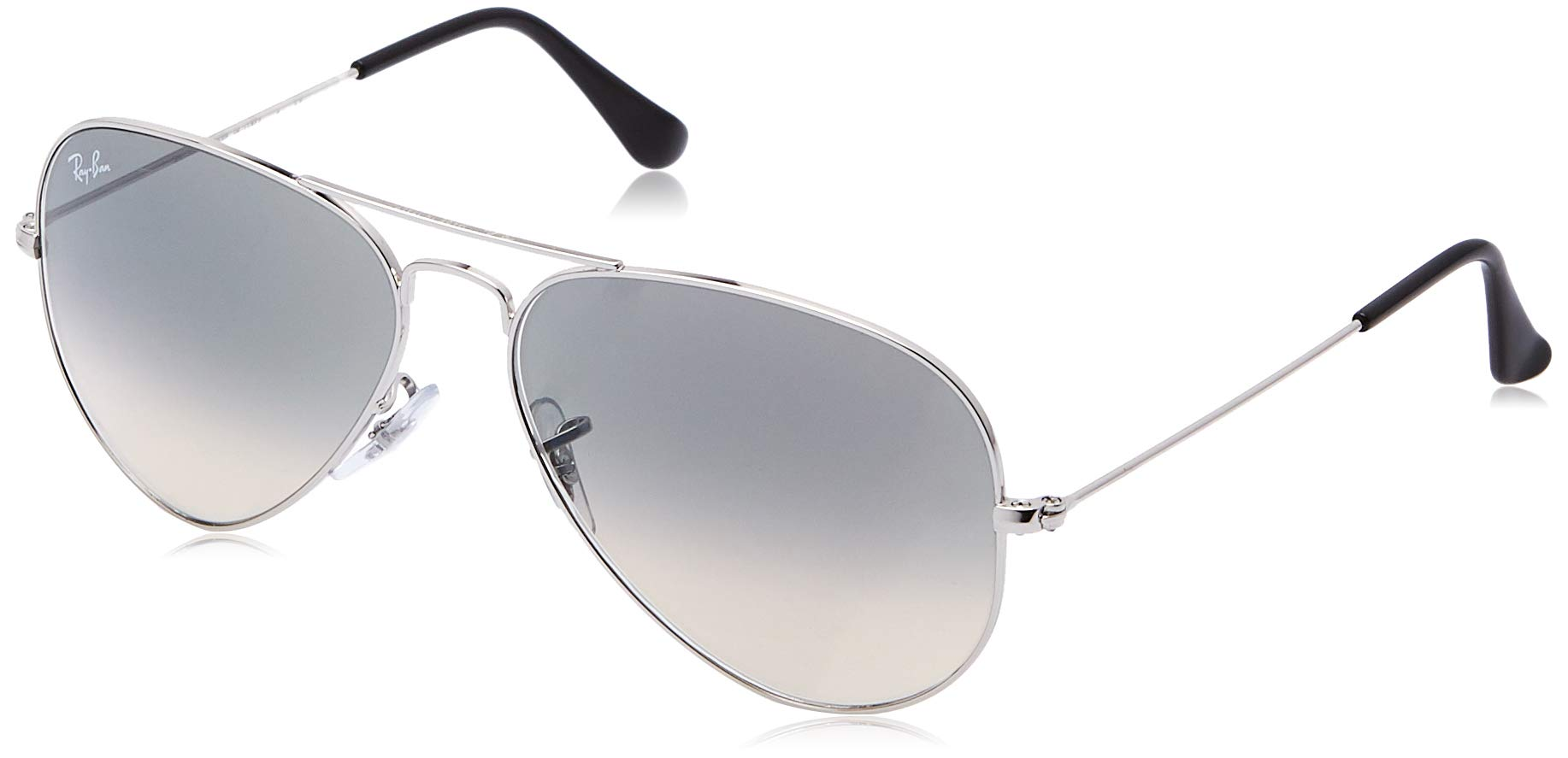 RAY-BAN RB3025 Aviator Large Metal Sunglasses, Silver/Grey Gradient, 58 mm by RAY-BAN