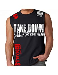 Stryker Fight Gear Skull Star Muscle Sleeveless Shirt Top Tapout MMA UFC Tank