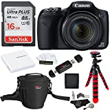Canon PowerShot SX530 HS + SDHC 16GB + Tripod + Ritz Gear Bag + Battery + Ritz Gear Card Reader + Cleaning Kit + Screen Protector + Polaroid Memory Card Wallet