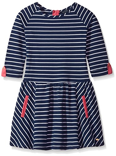 3/4 Tommy Sleeve Hilfiger - Tommy Hilfiger Girls' Big French Terry 3/4 Sleeve with Roll Cuffs, Flag Blue, Large