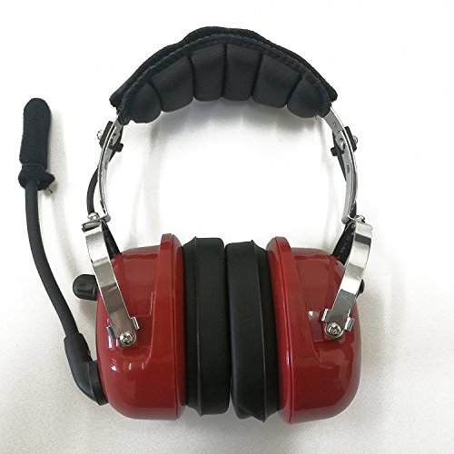 Radio Noise Aircraft (Fumei Heavy Duty Noise Cancelling General Aviation Pilot Headset (Red))
