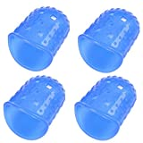 Liz Collection 4PCS Silicone Guitar Fingertip Protectors Finger Guards Ukulele Accessories (Small, Blue)