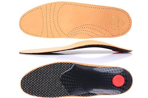 Die Schuhanzieher® Premium Luxus Fußbett Leder Schuheinlagen Einlagen Gr. 36-50 z1706(42)