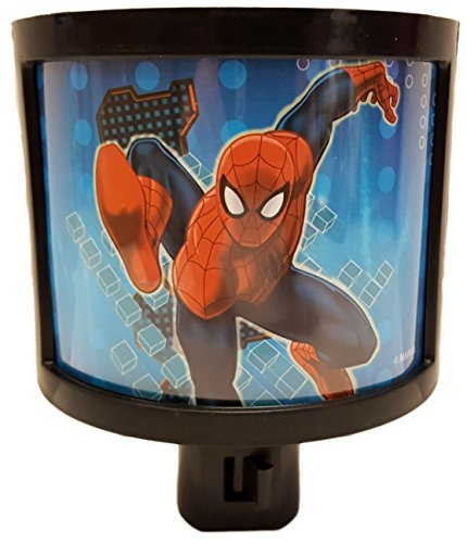 Marvels Ultimate Spider-Man On/Off Manual Night Light - Perfect for any Room in the House! - Light Night Man Spider