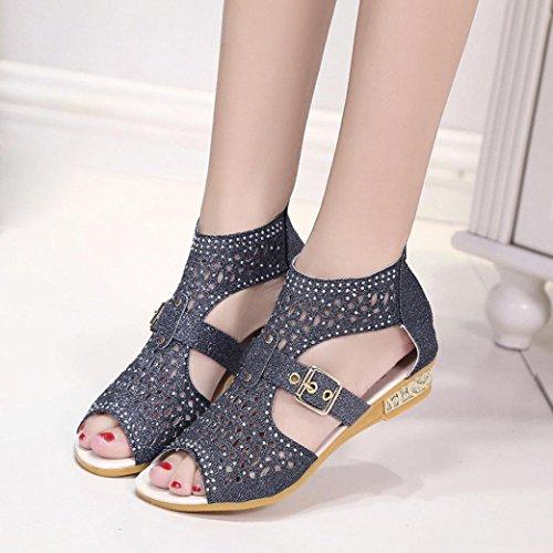 Zapato Mujer, Culater Sandalias Plano Verano Outdoor Pumps Negro