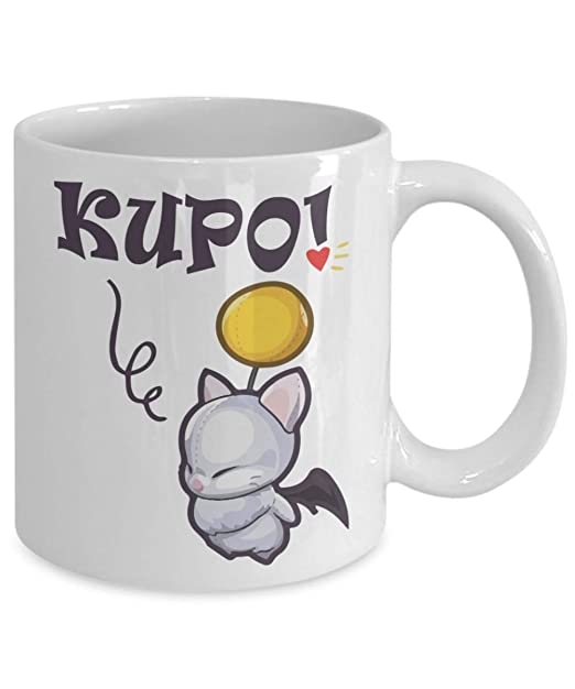 Kupo Heart Ohio Purple Heart Coffee Mug Xmas Dad Wind-Up Moogle Pap Tea Gift For Christmas Funny Mothers day Anniversary Fathers day Cup