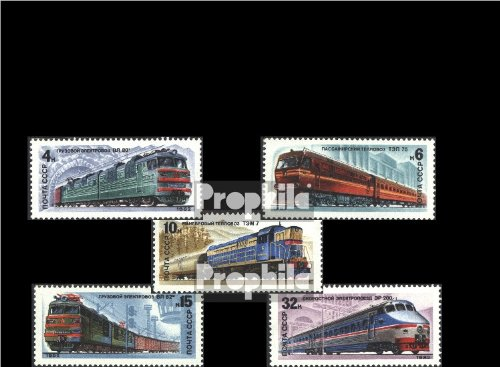 1982 Locomotives - Soviet-Union 5175-5179 (complete.issue.) 1982 Locomotives (Stamps for collectors)